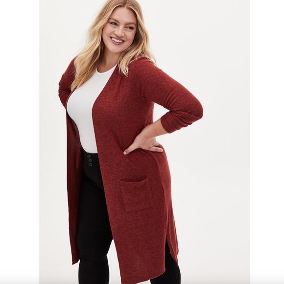 NWT Torrid 2 Super Soft Cardigan Duster Sweater